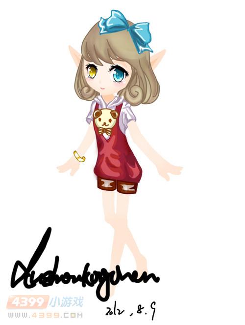 小花仙手绘第4期 服装设计1