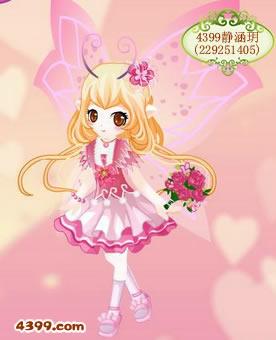 粉色心情套装-4399静涵玥_4399小花仙手机版