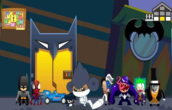 异世界/斗哥的这座小屋看起来特帅气有木有?蜘蛛侠、蝙蝠侠、双面人、...