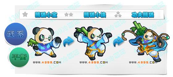 奥奇传说熊猫小宝 熊猫小侠 功夫熊猫进化图鉴技能表特长