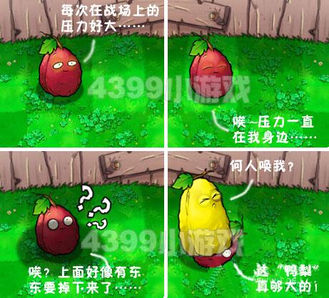 植物大战僵尸四格漫画 鸭梨很大