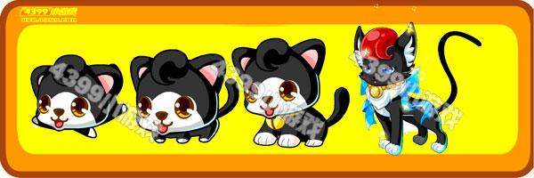 奥比岛小黑猫-雪夜猫变异进化图鉴及获得方法