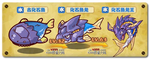 西普大陆化石鱼龙王技能表