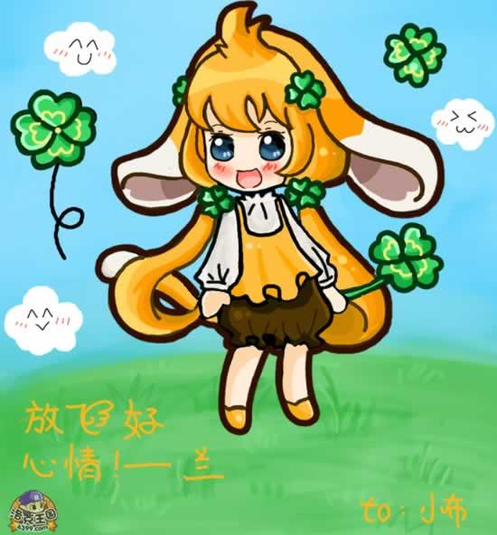 洛克王国加尔是可爱的小女生 4399洛小兰