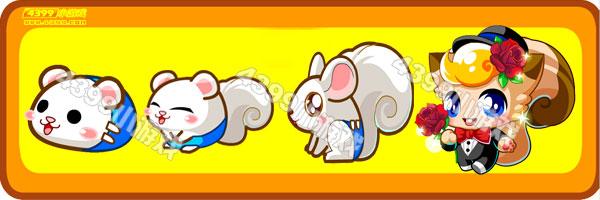 奥比岛白松鼠-玫瑰松鼠变异进化图鉴及获得方法