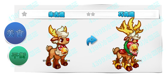 奥奇传说朱古鹿 巧克鹿进化图鉴技能表特长