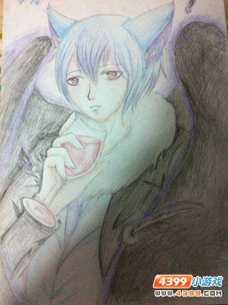 赛尔号手绘 恶魔版阿克诺亚