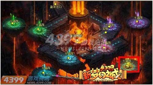 每一层都有一个boss,作为一个拥有水晶阵机关的副本,熔炎之塔的过阵