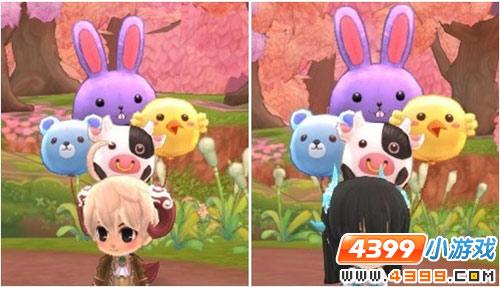 动物气球.粉紫兔