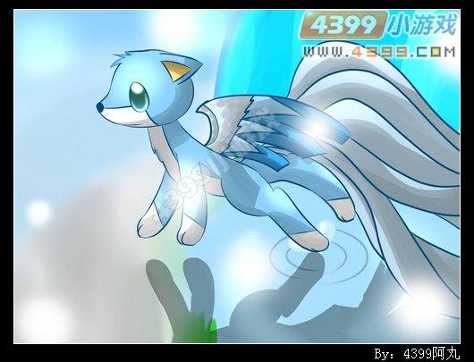 自创精灵手绘---寒雪狐