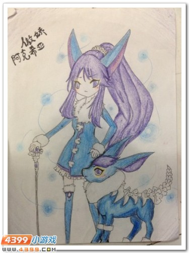 赛尔号手绘 可爱的萝莉精灵