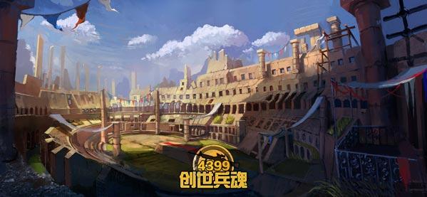 4399创世兵魂游戏地图海报