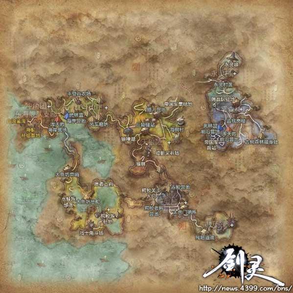 剑灵水月平原地图 可获武器饰品