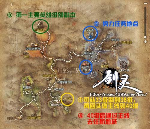 剑灵各职业通用30-35级升级攻略