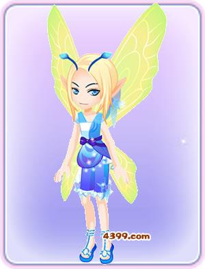 小花仙蓝舞裙套装