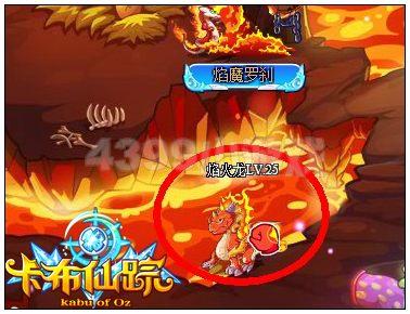 卡布仙踪火焰飞龙在哪 怎么抓
