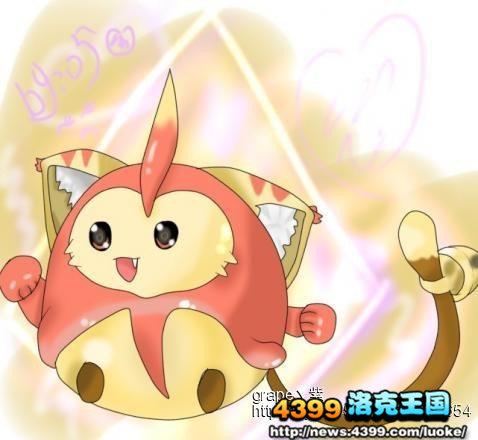 洛克王国 洛克画家作品集  洛克王国可爱的叮当猫 4399银紫 洛克王国