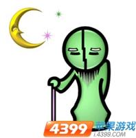 疯狂猜成语月亮下一个著拐杖的绿色老人是什么成语