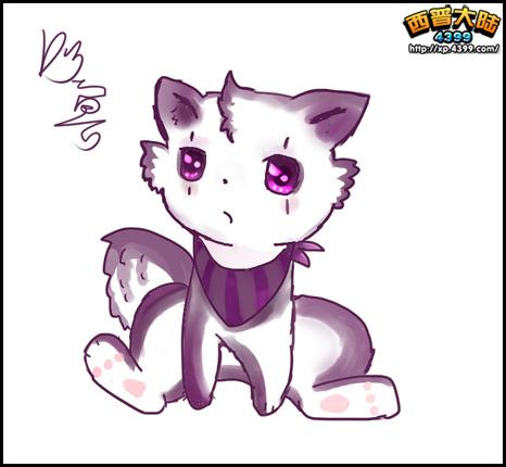 西普玩家手绘 自创精灵可爱幽宝