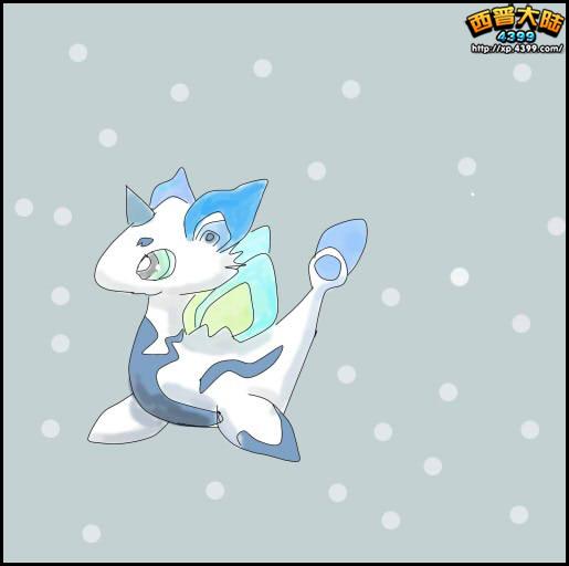 西普玩家手绘 雪小龙鼠绘