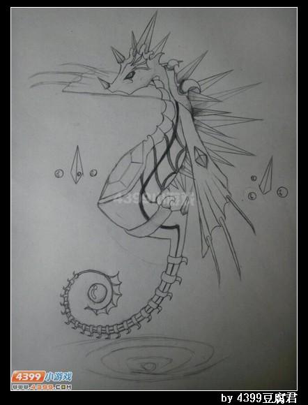 卡布手绘—海龙马超进化_4399卡布西游