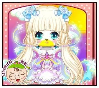 奥比岛教你搭配童梦彩虹女孩妆图片