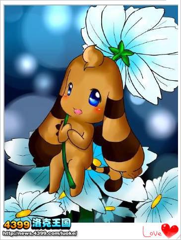洛克/洛克王国兽设无名宠4399trouble 洛克王国兽设树叶兔