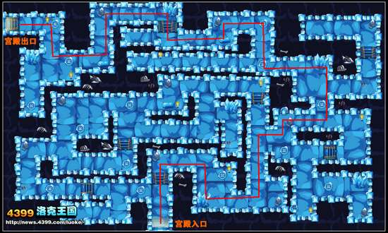 洛克王国寒冰雪域地下宫殿5层