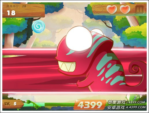 变色龙吃糖果游戏画面