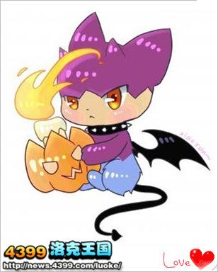 洛克王国 洛克画家作品集  洛克王国欢乐的小蝙蝠 4399达达 洛克王国
