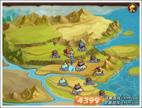 QQ战国世界地图界面