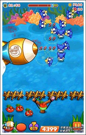 轰炸飞艇 作用:如上图所示,从游戏界面侧方开出一艘飞艇,路上碰到的