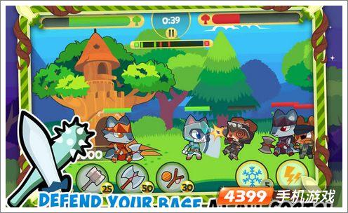 《森林防御2》和众多的塔防游戏一样采用虚拟按键