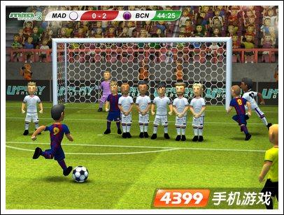 足球射门比赛手绘海报
