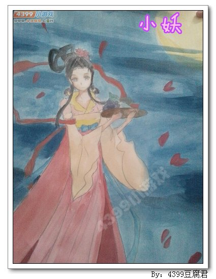 卡布手绘—嫦娥仙子