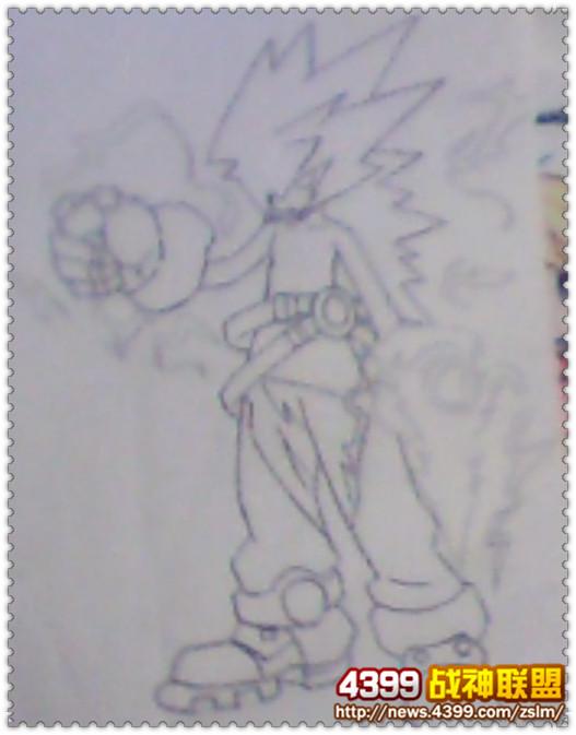 手绘 雷伊/4399颜色:手绘稍微有些糊,但是雷伊的主题部分和感觉都有出来...