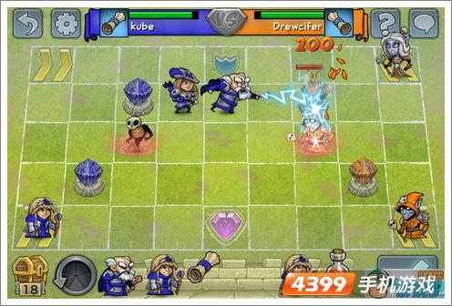 人物形象设计得十分夸张和可爱,虽然是棋盘游戏,但是在打斗中的人物动