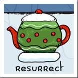 涂鸦跳跃圣诞版茶壶