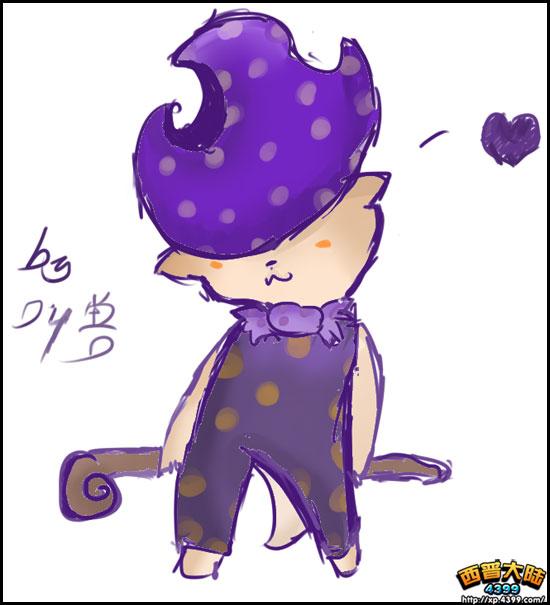 西普玩家手绘 自创精灵魔法鼠