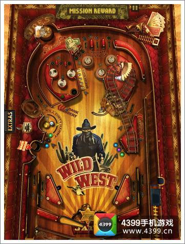 狂野西部弹球游戏