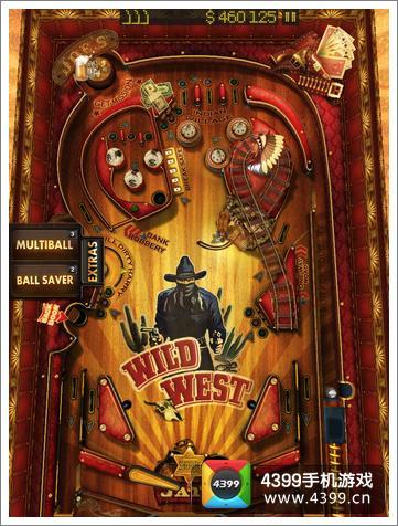 狂野西部弹球游戏画面