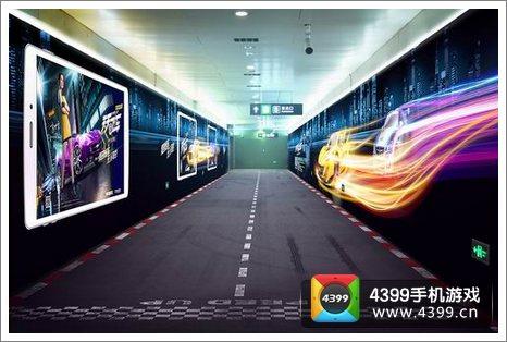 BTV报道天天飞车地铁广告