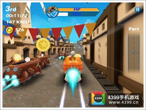 超级竞速游戏画面