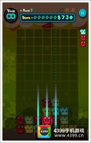 方块猫喵喵消游戏画面