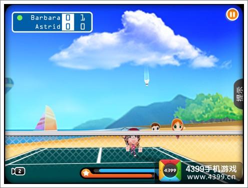 3D羽毛球2击球