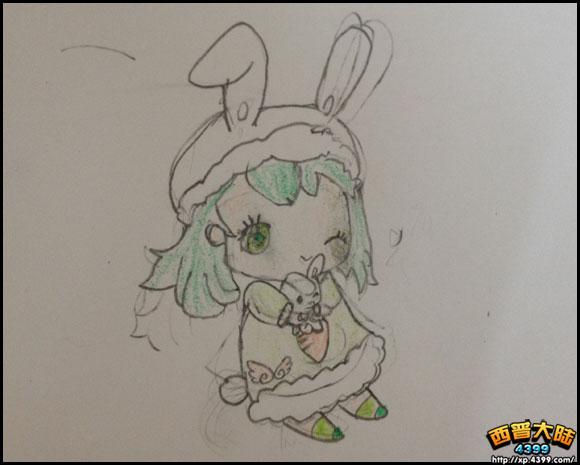 可爱萌兔画图片