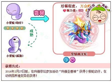 奥比岛紫魅幽龙蛇怎么得