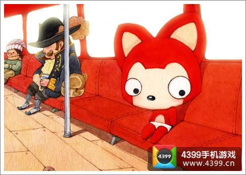 殊不知在这个可爱红狐狸角色背后,蕴藏的居然是漫画作者hans和女朋友