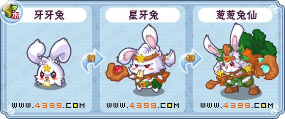卡布西游葱葱兔仙 星牙兔 牙牙兔技能表分布地配招