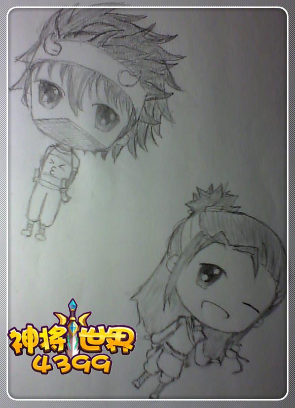 【神将手绘】曹昂&华佗手绘